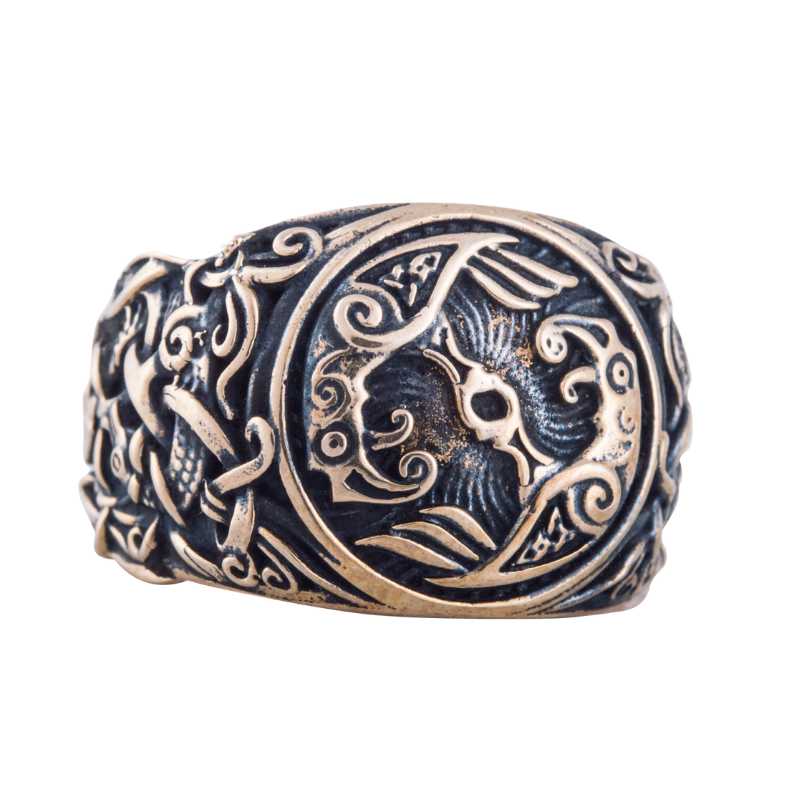 Raven Mammen Ornament Bronze Ring
