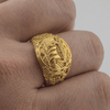 Drakkar Symbol Ring with Urnes Style Gold  Ring finger