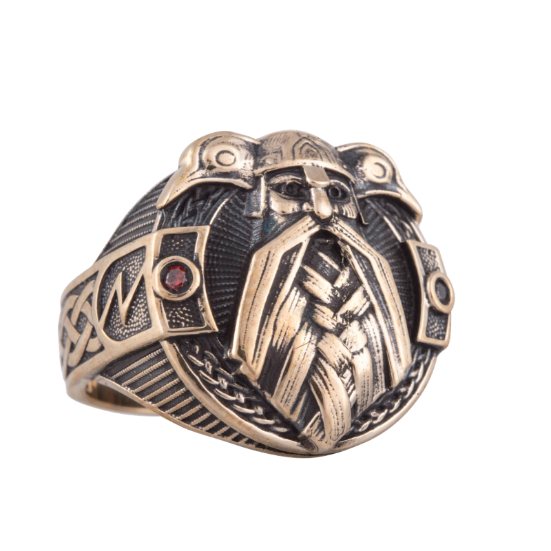 Odin and Raven Zirconium Bronze Ring