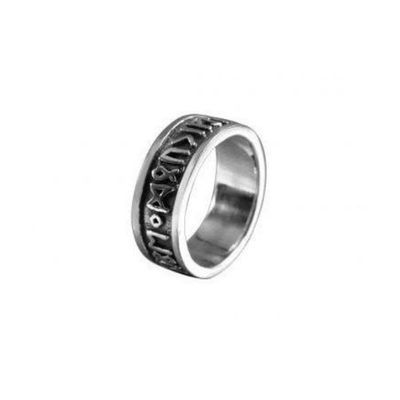 Runic Circle Ring Sterling Silver