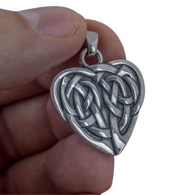 The Heart Ornament Sterling Silver Pendant