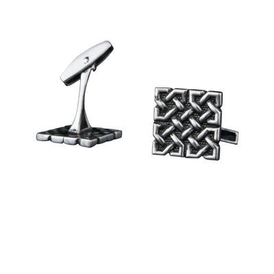 Unique Ornament Square v1 Sterling Silver Cufflinks