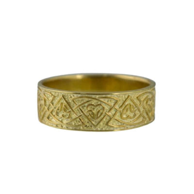 Valknut Norse Ornament Gold Ring