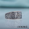 Valknut Symbol With HAIL ODIN Runes Sterling Silver Ring