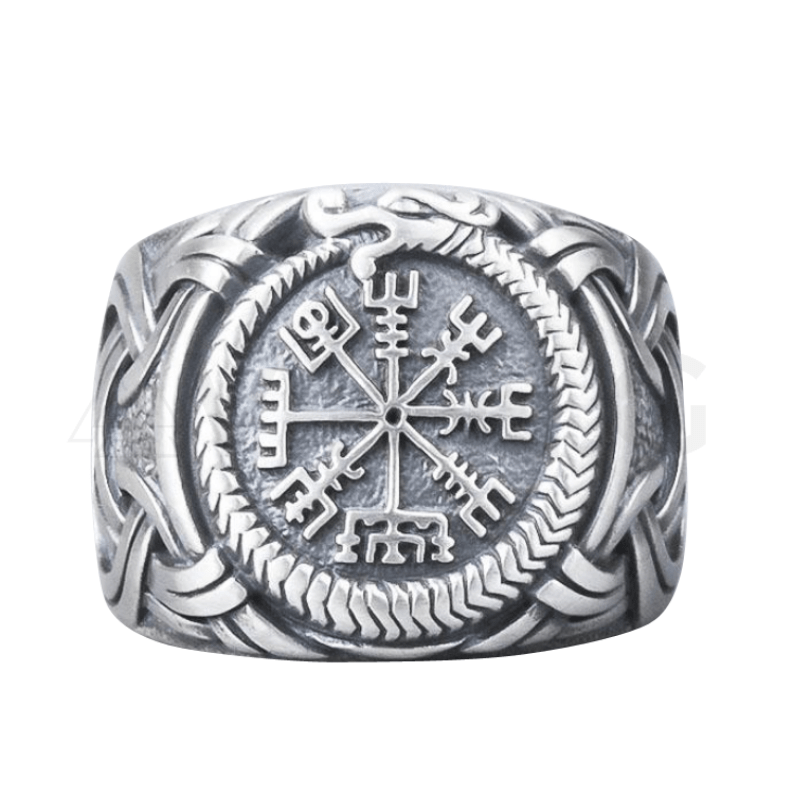 Vegvisir Ring Sterling Silver