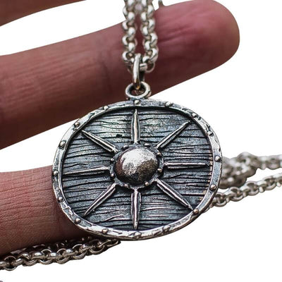Vikings Shield Star Sterling Silver Pendant