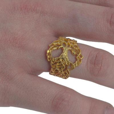 Yggdrasil Ornament Gold Ring