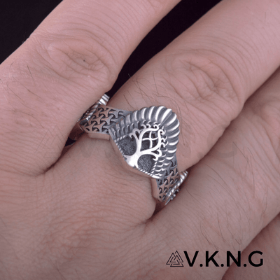 Yggdrasil Three Sides Sterling Silver Ring