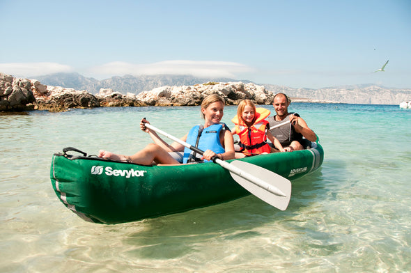 Sevylor Adventure Plus 2+1 Person Inflatable Canoe (2019)