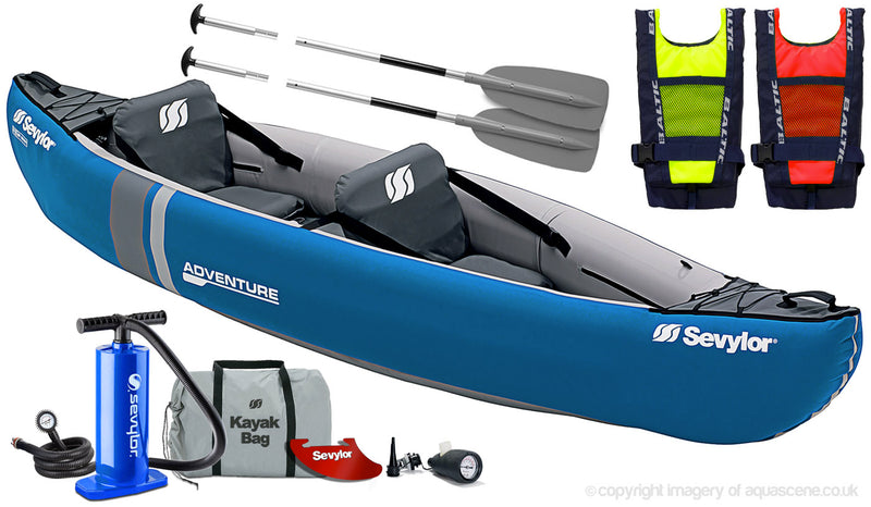 Sevylor Adventure 2 Person Inflatable Canoe (2019)