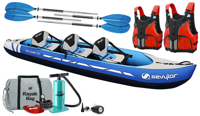 Sevylor Willamette (2020) 2+1 Inflatable Kayak (Blue)  Edit alt text