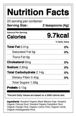 Mellow Rooster Herbal Coffee's Nutrition Facts