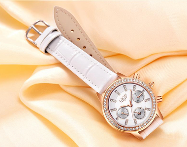 White Crystal Dial Watch