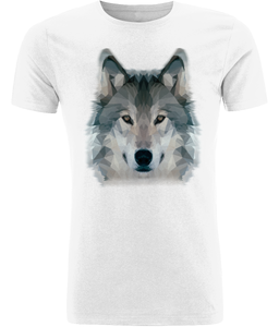 Wolf Men's White T-Shirt