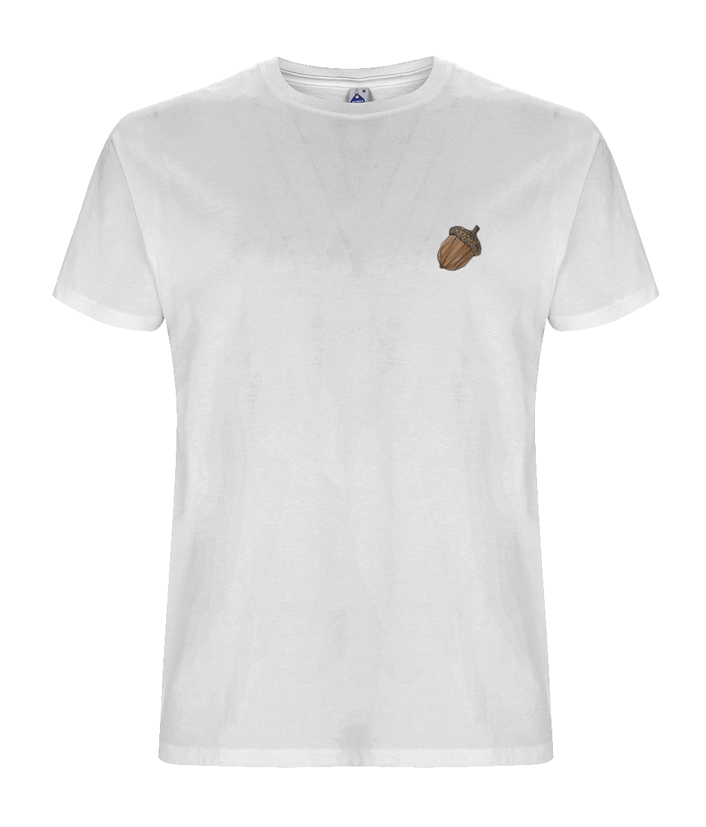 Mighty Acorn Men's White Tee