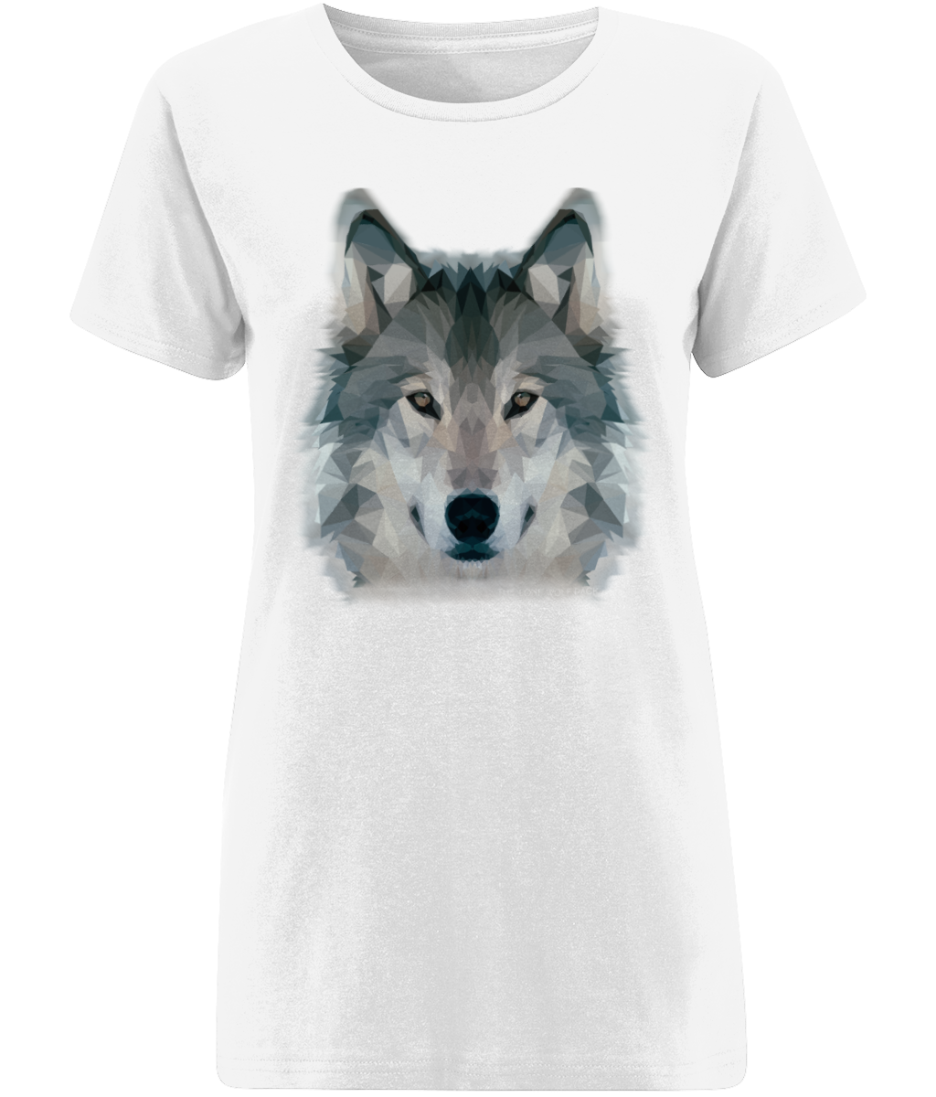 Wolf Women's White T-Shirt