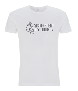 Stronger Than My Doubts Men's White T-shirt