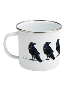 Ravens On The Line Enamel Mug