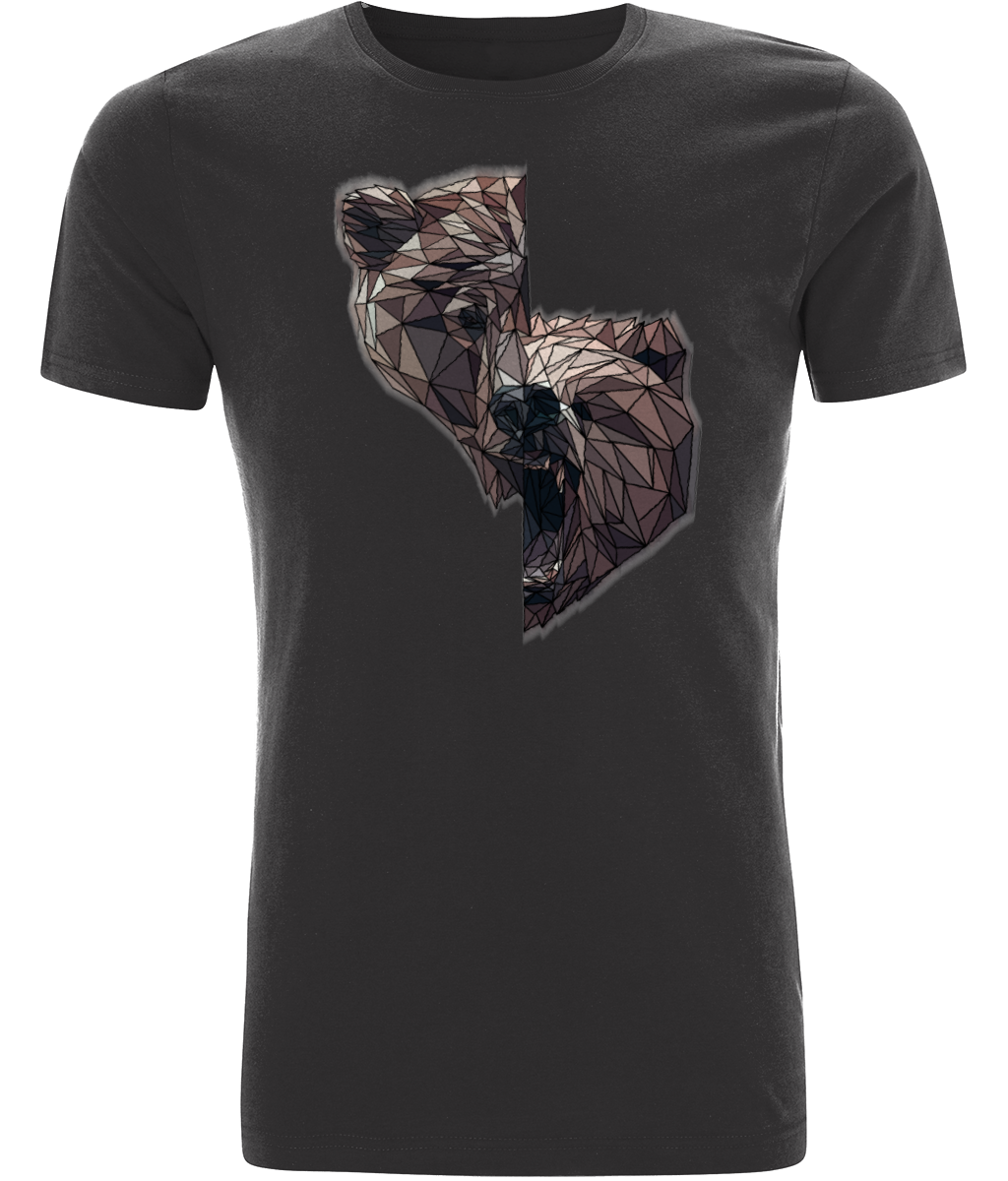 Split Bear Men's Grey Tee