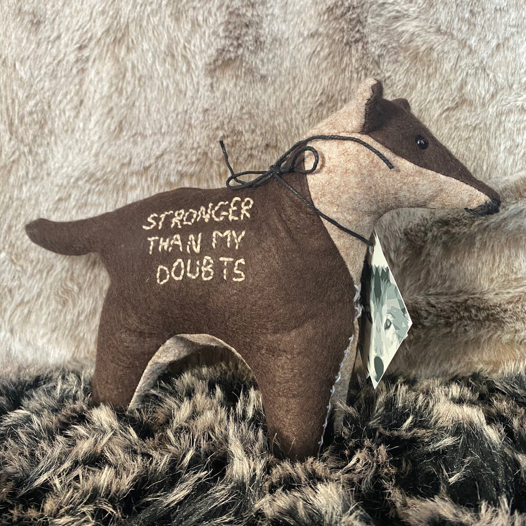 Stronger Than My Doubts Wolf Toy