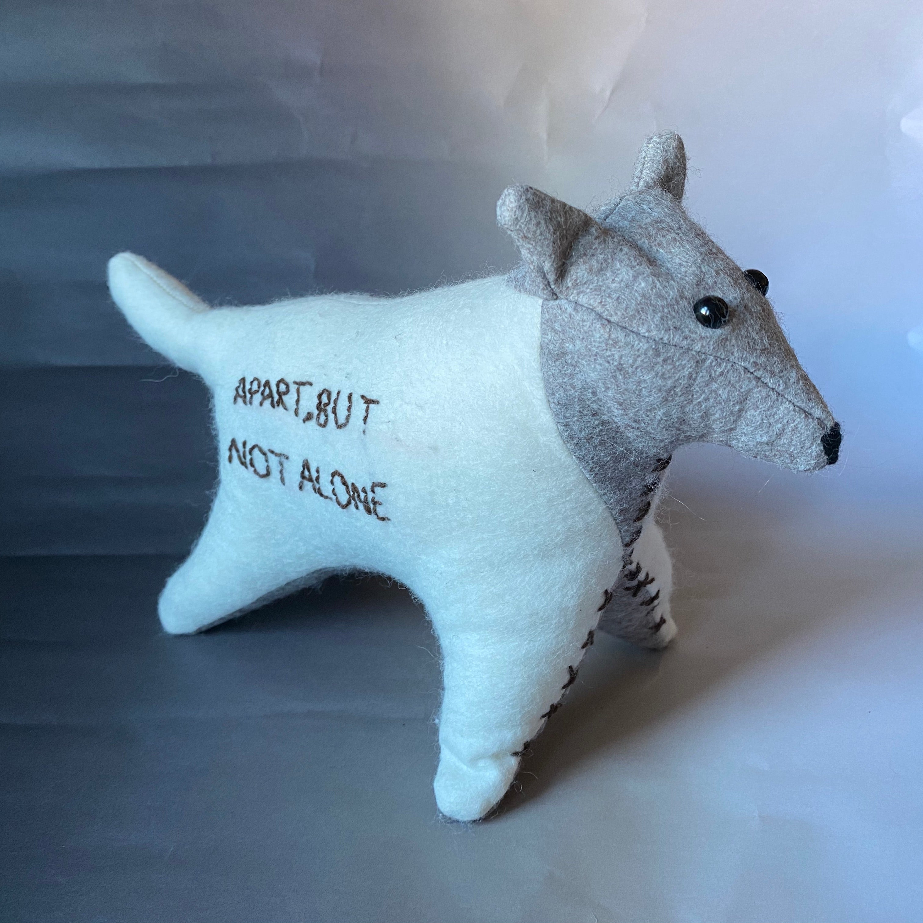 Apart But Not Alone Wolf Toy