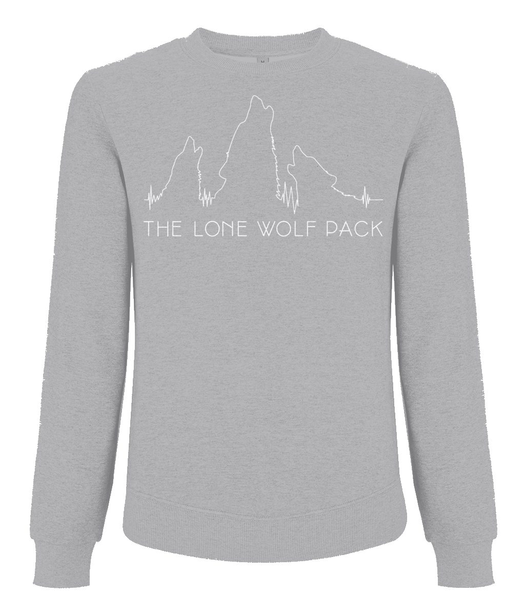 The Lone Wolf Pack Unisex Grey Sweatshirt