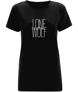 Lone Wolf Women's Black T-Shirt