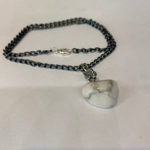 Howlite Wolf Chain Necklace