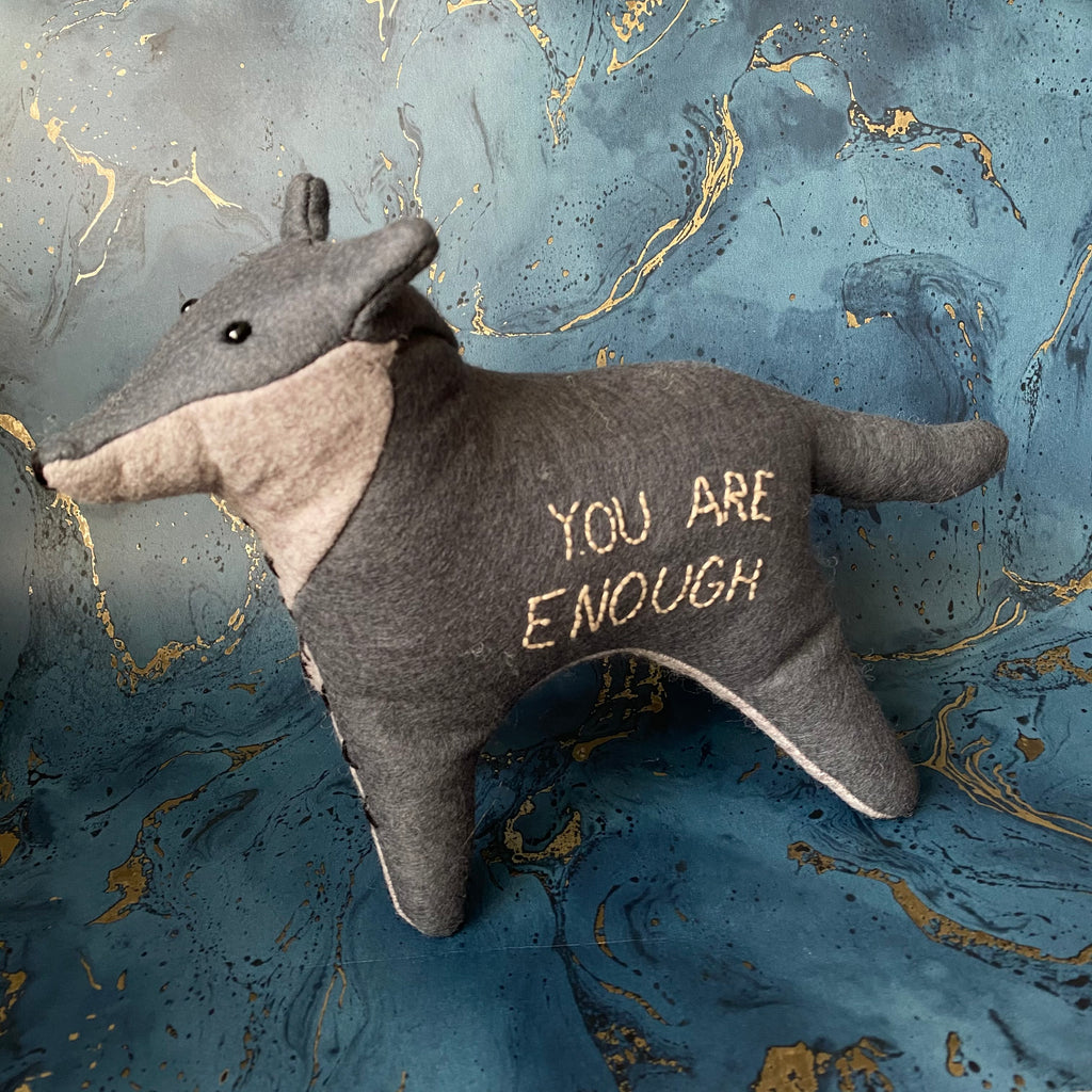 You Are Enough Wolf Toy