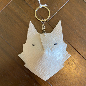Wolf Face Keyring 'Tomorrow Needs You'