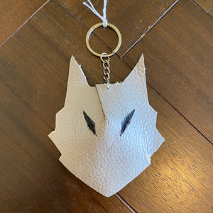 Wolf Face Keyring 'You Have To Be Odd To Be Number 1'