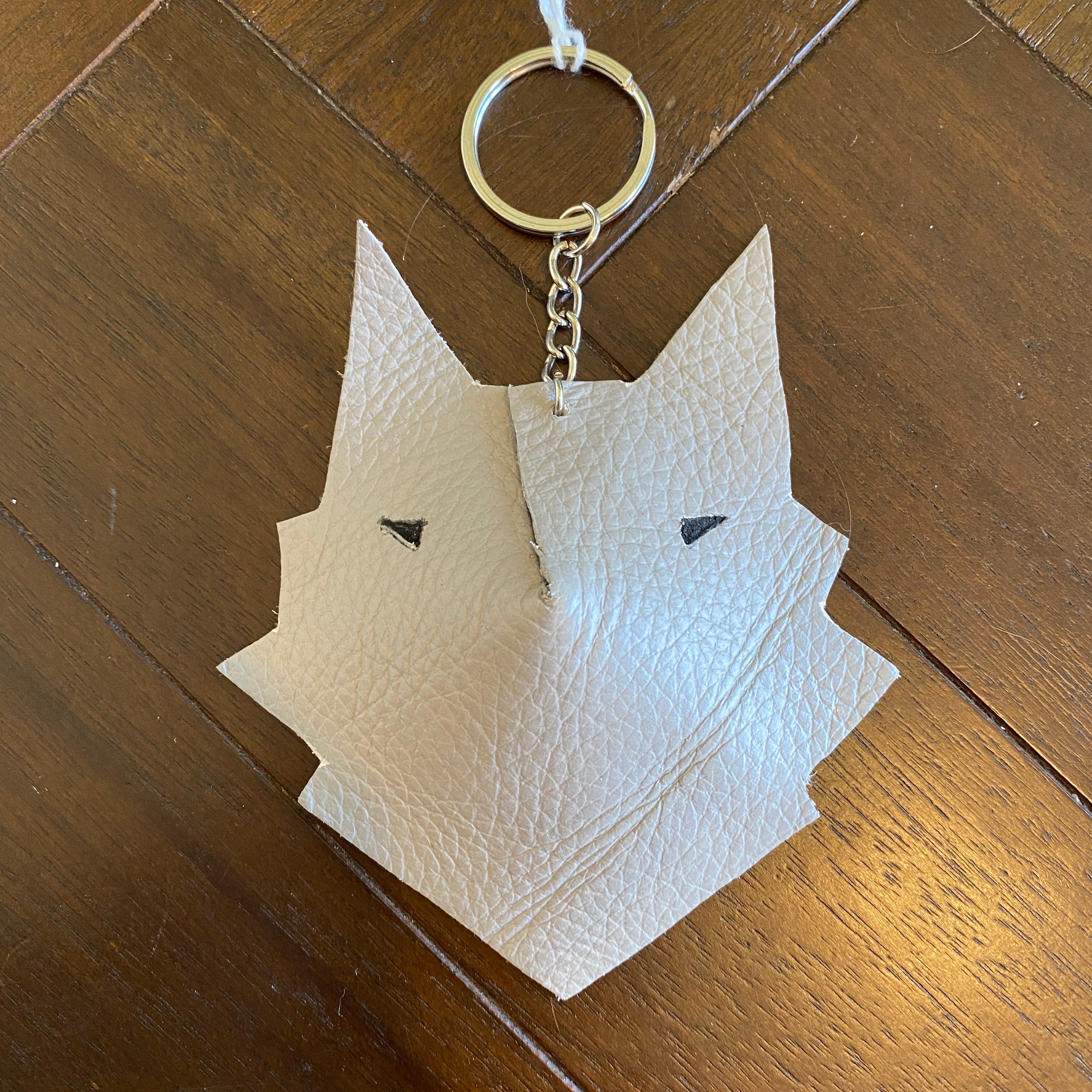 Wolf Face Keyring 'All Storms Pass'