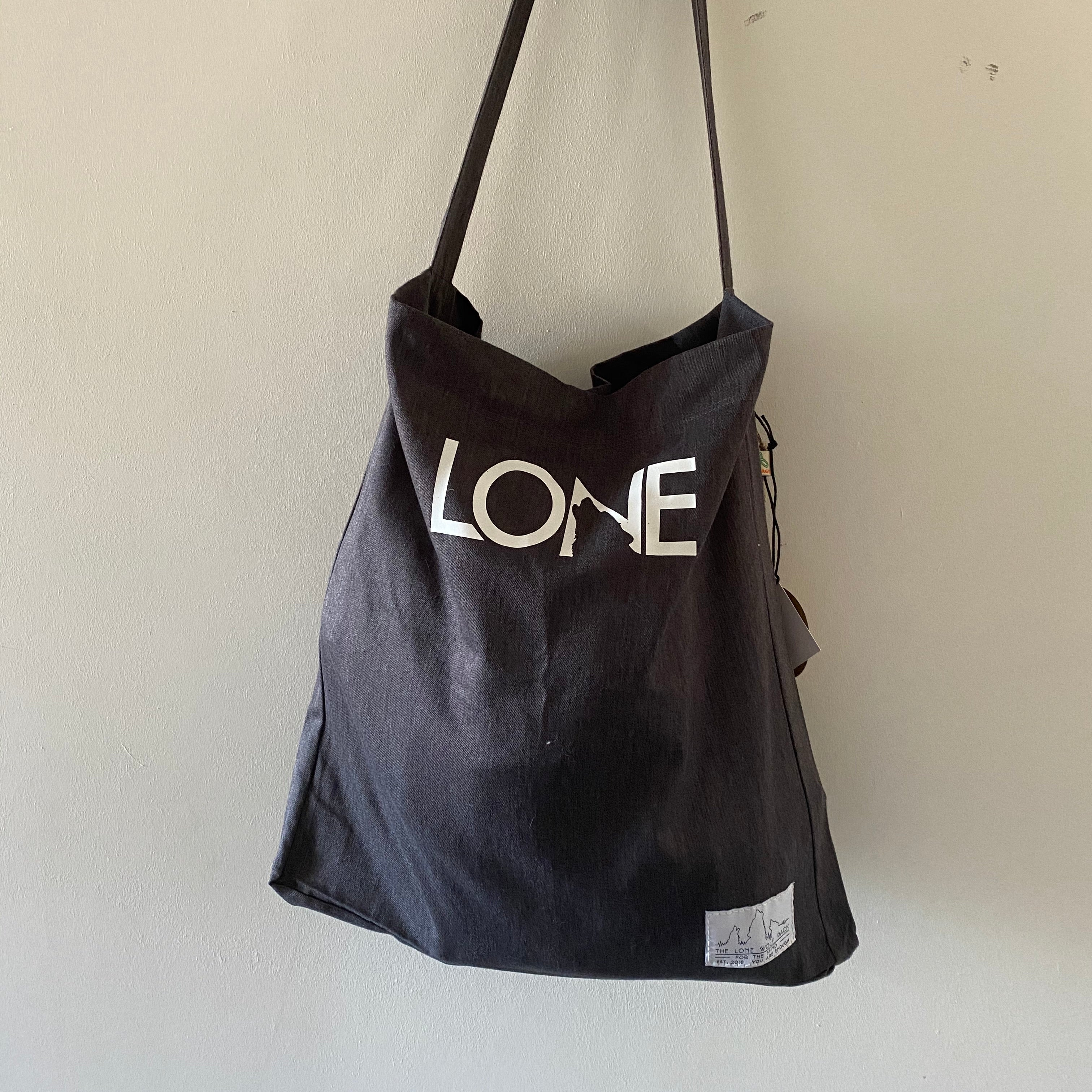 Lone Howl Grey Tote
