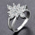 Noble flower Clear AAA Zircon Ring
