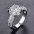 MDEAN White Gold Color Ring for Women