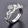 MDEAN White Gold Color Ring for Engagement/Wedding