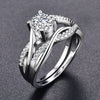 White Cute AAA Zircon Ring for Women