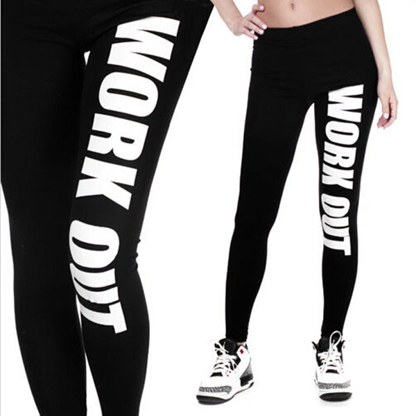 Sexy Workout Large Size Pink Printed Polyester leggings