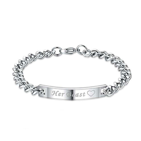 Couple Bracelet Customized Name Stainless Steel