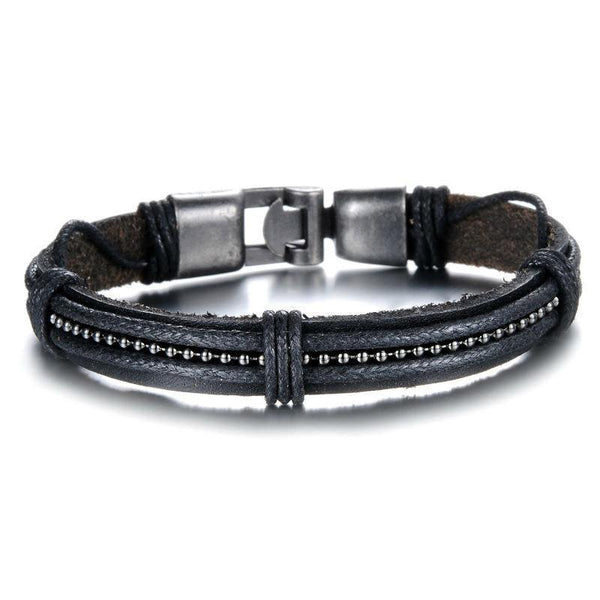 Genuine Cow Leather Bracelet Bangle For Men/Women