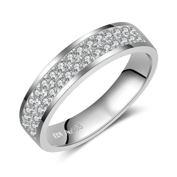EDI Classic Man/Women Wedding Engagement Adjustable Ring 14k 0.32cttw
