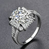 White Gold Color AAA Zircon Ring for Women