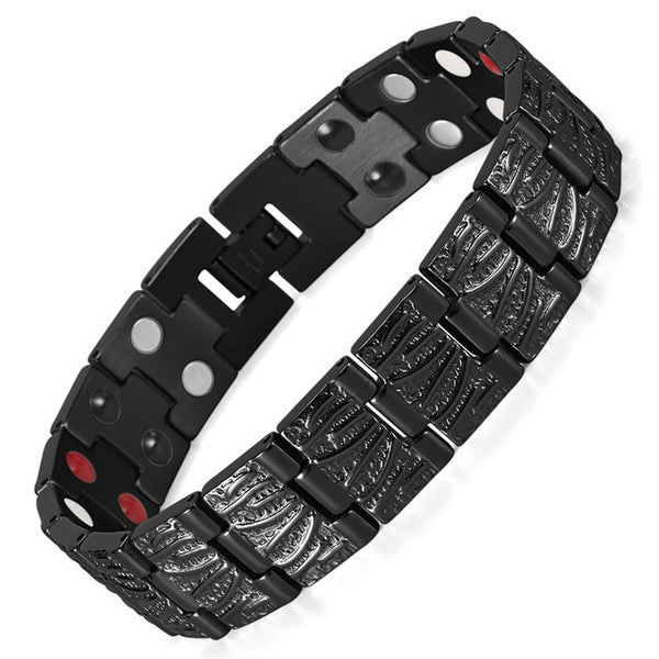 Healing Titanium Magnetic Bracelet & Bangle 2 Row Health Care Elements Germanium