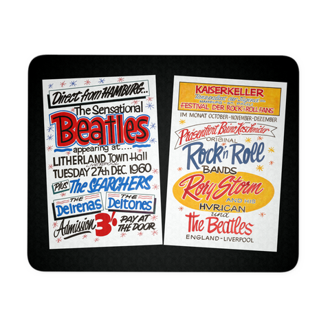 The Beatles Mouse Pad - 1960 Concert Posters