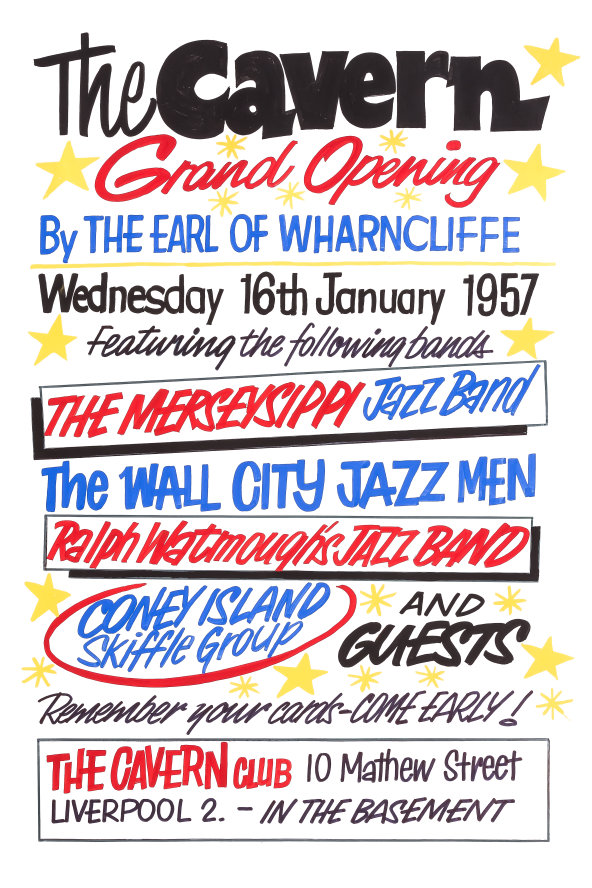 The Cavern Club Grand Opening Fridge Magnet 1957