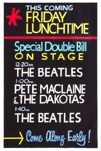 The Beatles Friday Lunchtime At The Cavern Club Poster