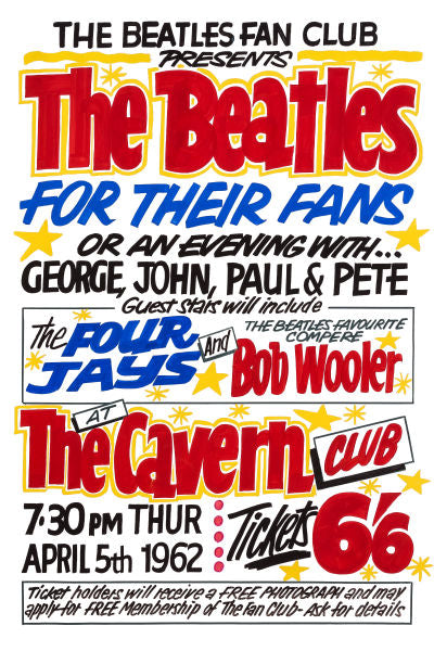 The Beatles For Their Fans Poster 1962
