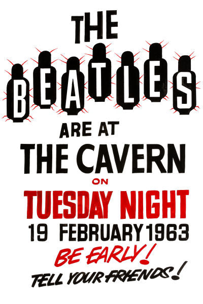 The Beatles At The Cavern Club Poster 1963