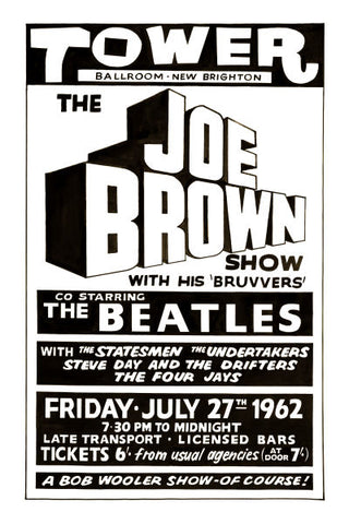 The Beatles & Joe Brown Concert Poster 1962
