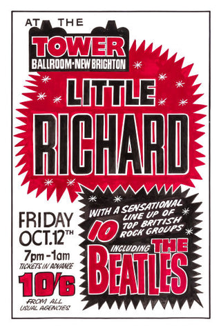 The Beatles & Little Richard Concert Poster 1962